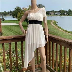 Roberta Asymmetrical Hem One Shoulder Mini Dress